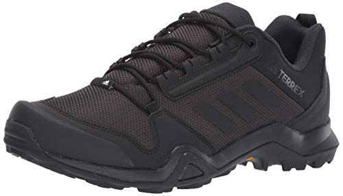 adidas outdoor Men's Terrex AX3 Hiking Boot, Black/Black/Carbon, 9.5 M US