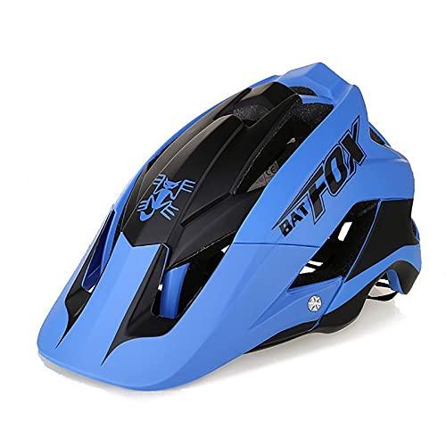 G&F Cascos Bicicleta Adulto Ligero Carretera Montaña Casco Ciclismo Ajustable por Hombres Mujeres 56-63cm (Color : Blue, Size : 56-63)