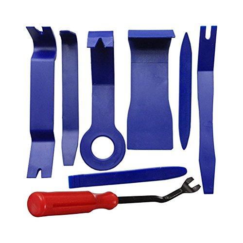 WINOMO Kit de 8 outils de démontage de panneau de porte de voiture - Bleu