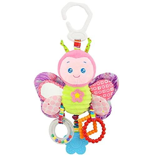 juguetes de la felpa del traqueteo del bebé del niño del traqueteo del asiento de coche cochecito cuna Juego Colgando juguete interactivo y juguetes educativos de la mariposa de los niños Pasatiempos