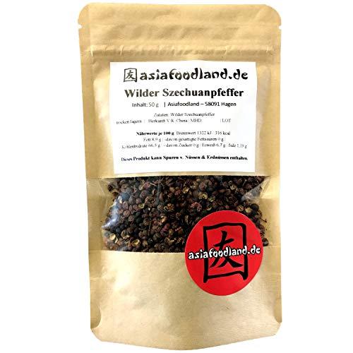 Asiafoodland - Wilder Szechuan Pfeffer - auch genannt Japanischer Pfeffer oder Chinesischer Pfeffer, 1er Pack (1 x 50g)