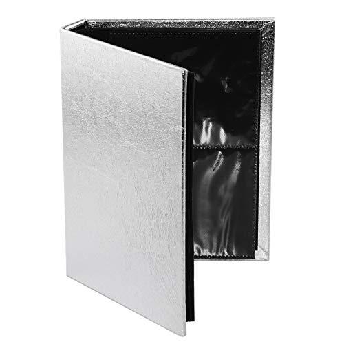 ACAMPTAR 3D Nagel Aufkleber Wasser Aufkleber Sammeln Alben Lagerung Gro?e 30 Seiten Halter Nagel Kunst Display Zeigt Buch Container Werkzeug (Silber)