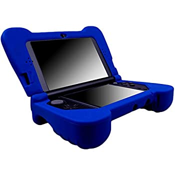 MXRC Silicone Rubber Cover Skin Case Anti-Slip Hand Grip Customize for Nintendo [NEW 3DS XL] x 1 Blue Not for Old 3DS XL