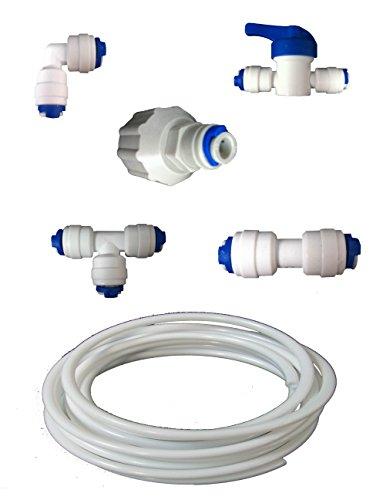 The Water Filter Men PlumbKit10m1 Nature's Water Anschluss-Set, Filter für amerikanische Kühlschränke von LG, Samsung, Bosch, Daewoo, GE und alle LDPE-Schläuche mit 1/4 Zoll