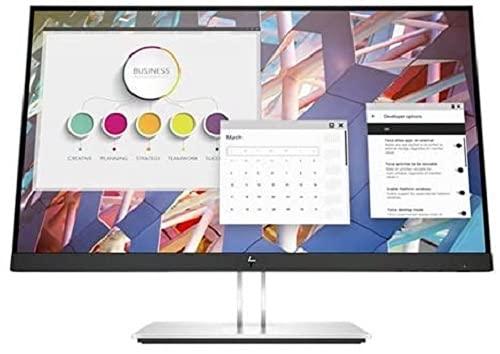 """HP – PC E24 G4 Monitor Business, Schermo IPS FHD 23.8"""", Tempo Risposta 5ms Overdrive, Risoluzione 1920 x 1080, Antiriflesso, Inclinazione Altezza Pivot Regolabili, DiplayPort, HDMI, VGA, USB, Argento"""