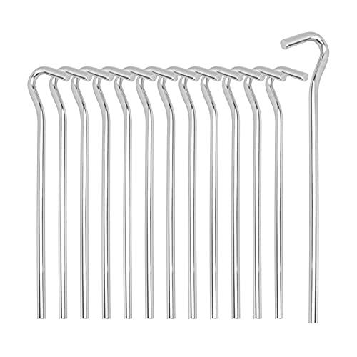AllRight 50 Stück Zeltheringe Sturmsicher Stabile Erdnägel Zeltnagel 23cm Stahl Verzinkt Erdnagel Zelthering ideal für Garten Camping Angeln und Zelten