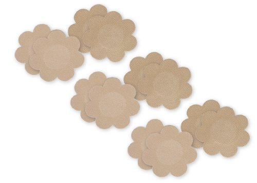 Fashion Forms Women's Disposable Breast Petals 6 Pack, Nude, Tan, One Size