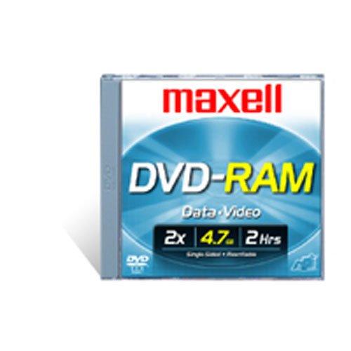 Maxell DVD-RAM47 DISC 4.7GB Rewritable DVD-RAM Disc for Video, 3 Pack