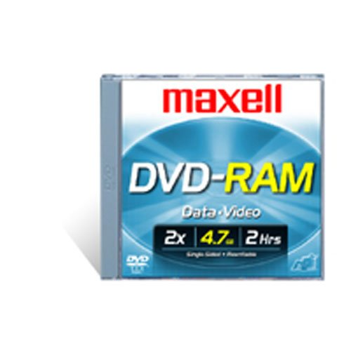 Maxell DVD-RAM47 DISC 4.7GB Rewritable DVD-RAM Disc for Video, 3 Pack