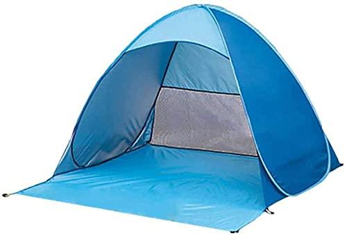 QPP-CL Refugio de Sol portátil, Carpa de Playa de sombrilla automática, fácil Instalar campaña de Picnic de Camping Tienda de Dosel de Bloqueo Solar