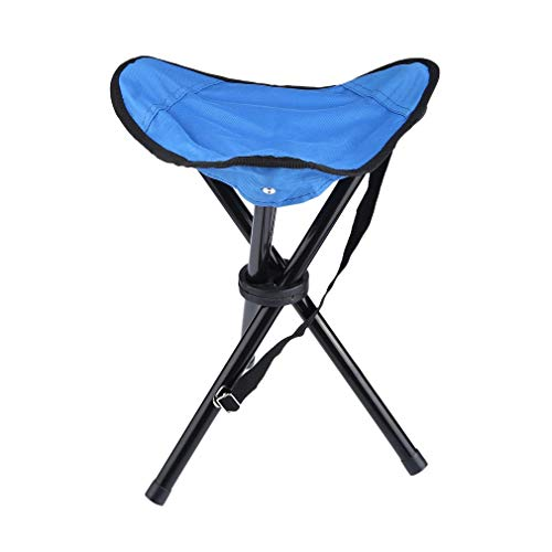 ALTERDJ Camping-Hocker schwarz 3-beinig Mini Campingstuhl für Angeln Reise Wandern Garten – Outdoor faltbar – Bespannung schwarz