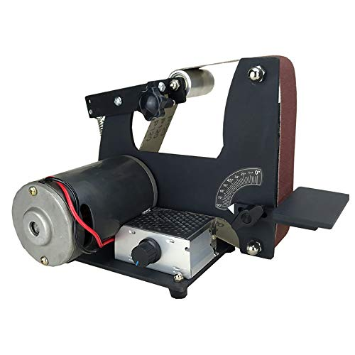 isunking 220V Elektrische Schleifbandmaschine DIY Bandschleifer Messerschleifer Metallpoliermaschine 350W 0-7000 RPM 610x50MM