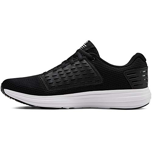 Under Armour Women's Surge Special Edition Running Shoe, Black (001)/White, 6.5
