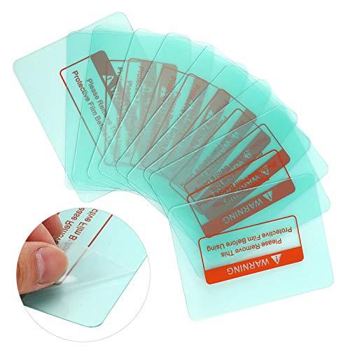Cubierta de soldadura Placa protectora de lente, no es fácil de romper Accesorios de electricista 10 piezas para máquina de soldar Lámina protectora interna Lámina protectora externa (116 x 90 mm)