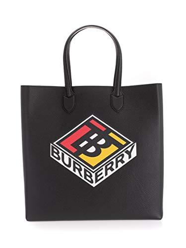 Burberry Moda De Lujo Hombre 8022525 Negro Cuero Bolso Tipo Shopper | Ss21