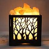 Global Aroma Forest Wooden Brown Basket Salt Lamp Himalayan Rock Salt Lamp