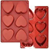 """Large Heart Shaped Silicone Mold, for Hot Chocolate ,Cake,Jelly,Handmade Soap,Candy,Making Valentine's Day dessert gift ,DIY Baking Mold - 3"""""""