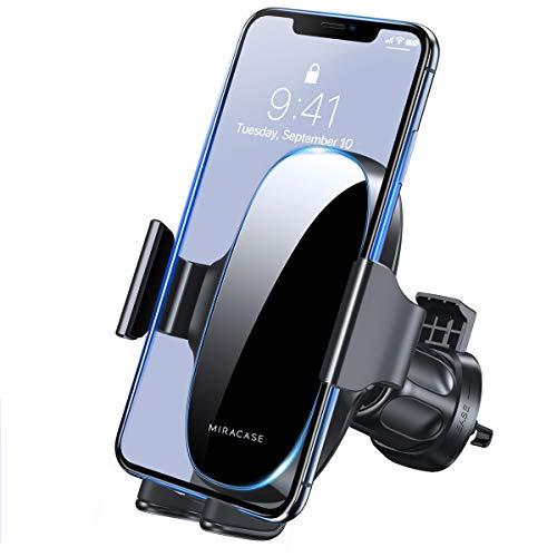 【2021 Upgraded】 Miracase Handyhalterung Auto Handyhalter fürs Auto Lüftung Universale KFZ Smartphone Halter für iPhone 12/ 12 Pro/ 11/ SE/ XS/ XR/ 8/ Samsung/ Huawei/ Xiaomi/ LG usw