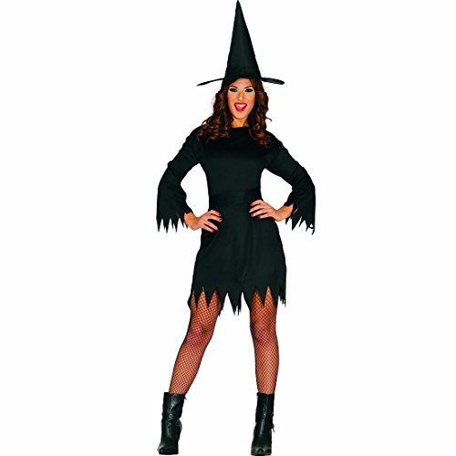 NET TOYS Costume da Strega Vestito da Maga malvagia L 46/48 - Travestimento fattucchiera Donna Abito di Halloween da incantatrice Outfit negromante Donna Camuffamento da Fata Cattiva