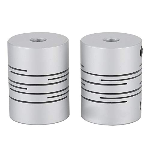 8 mm a 8 mm, acero inoxidable, 30 x 25 mm Sourcingmap color plateado Acoplador flexible para conector de motor