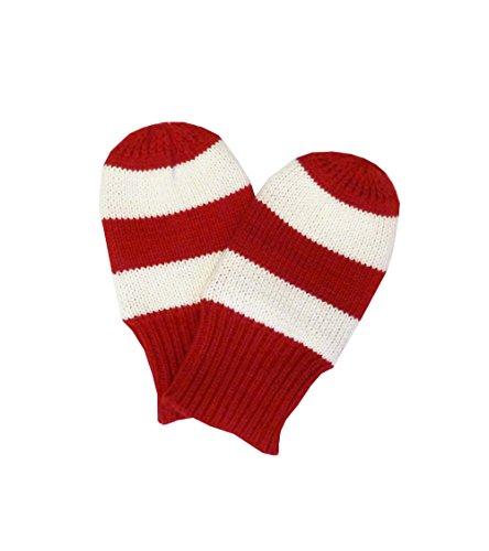 Toby Tiger Carte Motif Moufles en tricot rouge & blanc S 6-12m