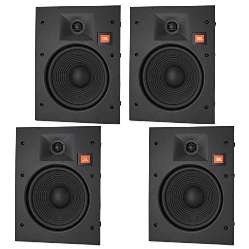 Best Buy! JBL LAE8I 8 in-Wall Speakers 2-Way Frameless Design with White Magnetic Grille - (4 Pack)