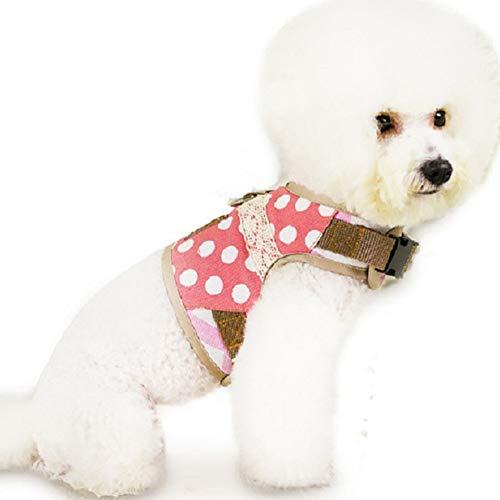 Hieefi Sin Tire Arnés para Perros, Perro, Arnés, Chaleco Ajustable Caminar Mascotas Arneses Gato Chaquetas Acolchadas Gato Perro De Perrito del Chaleco Rosado S