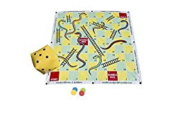 Oversized Family Fun - 2m x 2m Oversize mat, with giant inflatable dice Timeless Family Classic - Hours of Fun for All the family Durable - A heavy duty plastic mat designed for hours of play. Play on Grass - Comes with 8 ground pegs so the mat stays...