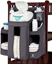 hiccapop Hanging Diaper Organizer for Changing Table and Crib, Diaper Stacker and Crib Organizer   Hanging Diaper Caddy Organizer for Baby Essentials   Nursery Organizer for Cribs