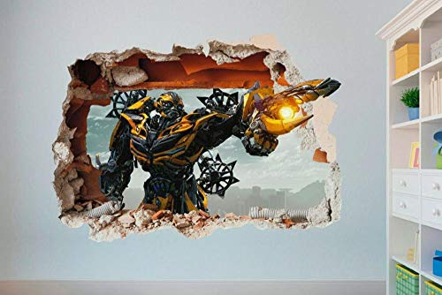 AUUUA Wandtattoos Transformers Hummel Loch in der Wand - 3D gedruckte Vinyl Aufkleber Aufkleber Kinder