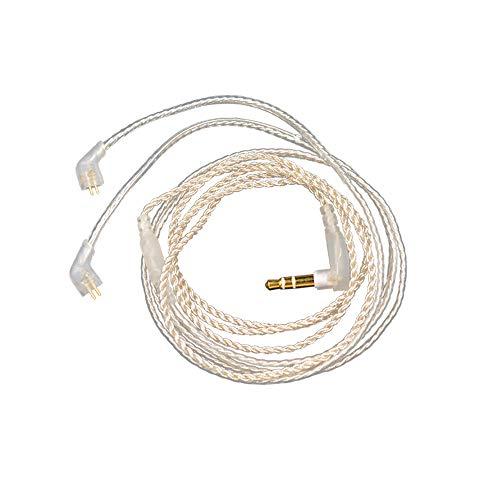 KZ ZST/EDX / ED12 / ZS10 / ZSR / ES4 Cable de audífono de actualización de Plata Cable de Audio Desmontable Jack de 3 Polos de 3,5...