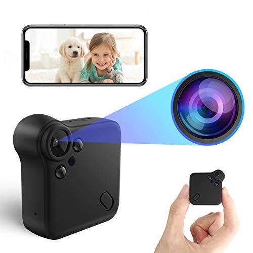 【2021最新改良版】超小型カメラ HD1080P超高画質 防犯カメラ WiFi対応 ワイヤレス ビデオカメラ 録画機能付き 動体検知 広角150° IOS/Android対応 遠隔操作 日本語取扱書付