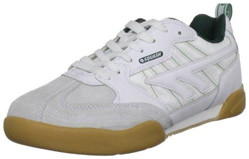 Hi-Tec Classic, Scarpe da Squash Unisex – Adulto, Bianco (White/Dark Green)), 35 EU