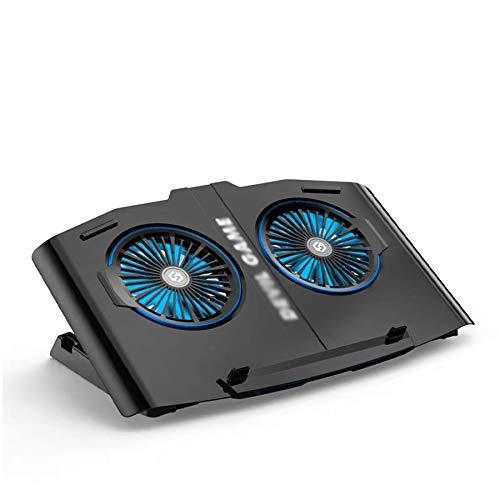 Refrigerador portátil,Base de Refrigeración para Ordenador Portátil + USB + estable y silencioso + cinco regulables en altura + compatible con laptop de 12-17 pulgadas +apto para amantes de los juegos