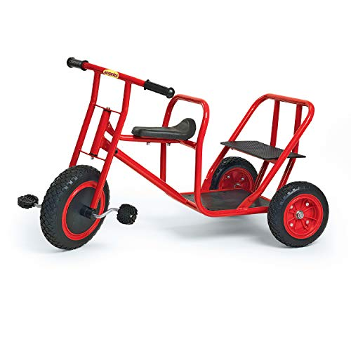 Angeles ClassicRider Tandem Taxi Trikefor Kids, Red–Tandem TricycleSuitable for Ages 3+ –Encourages Active Play, Supports Up to 140lbs, Kids Trikewith Durable Design &Built-in Safety Features
