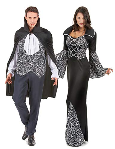 Generique - Coppia di vampiri Bianca e Nera Taglia UnicaCoppia di vampiri Bianca e Nera Taglia Unica