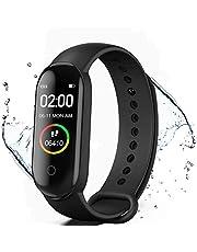 KLiHD Fitness Tracker, M4 Smart Watch, Activity Tracker Orologio con Cardiofrequenzimetro, IP67 Impermeabile Pedometro Sport Braccialetto Salute Fitness