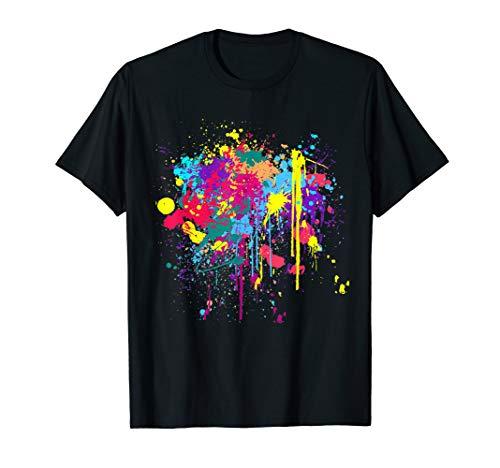 Pretty Dirty Paint Splatter colours T-Shirt