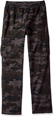 The Children's Place Big Boys' Pull-On Cargo Pant, Night Camo, 8