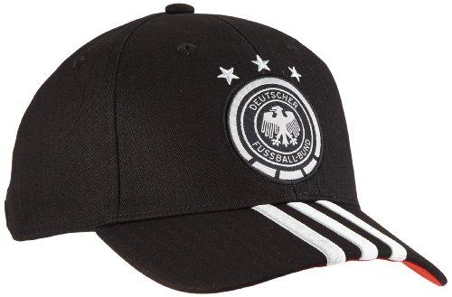 adidas Herren DFB 3 Stripes Cap, Schwarz/Weiß, One size
