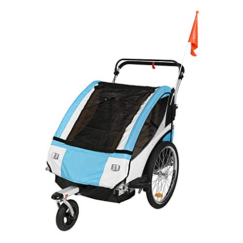 Purchase Clevr Elite 3-in-1 Double 2 Seat Bike Bicycle Trailer Jogger Stroller for Kids Children - F...