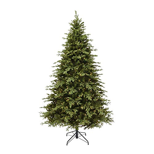 NOMA 7.5-Foot Pre-lit Christmas Tree with Lights | Appalachian Pine | 600 Color-Changing LED Bulbs | Clear Warm White and Multicolor Lights | 3320 Branch Tips