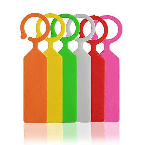 KINGLAKE 300 Pezzi Etichette per Alberi in plastica, cartellini per Piante appesi marcatori da Giardino in plastica Impermeabili, 6 Colori