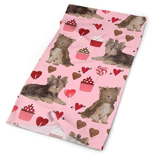 NA Chocolade Yorkie Hond Valentines Leuke Liefde DogsFacial Hoofdband Make Up Wrap Hoofd Terry Doek Hoofdband Stretch Handdoek make-up Haarband Sport Yoga Douche