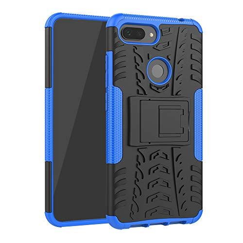 TiHen Funda Xiaomi Mi 8 Lite 360 Grados Protective con Pantalla de Vidrio Templado. Caso Carcasa Case Cover Skin móviles telefonía Carcasas Fundas para Xiaomi Mi 8 Lite - Azul