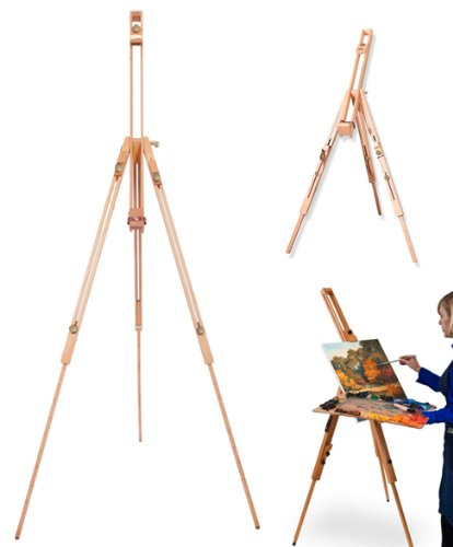 Portable Wooden Artist Easel with Carry Case