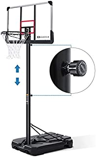MARNUR Basketball Hoop Basketball System Basketball Goal Basketball Equipment with Height Adjustable with Big Backboard & Wheels for Youth Kids Indoor Outdoor
