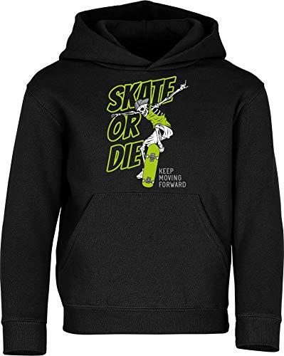 Kinder Pullover: Skate or Die - Hoodie Kapuzenpullover Pulli Skateboard Skaten Skater Skaters Board SK8 - Geschenk Kleidung Junge Jungen Mädchen Kind Sport (128)