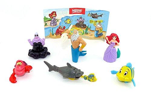 Kinder Überraschung Figurensatz von Arielle die Meerjungfrau von Nestle mit einen Beipackzettel zur Serie