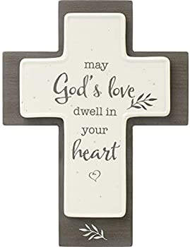 Precious Moments May God's Love Dwell in Your Heart Cross